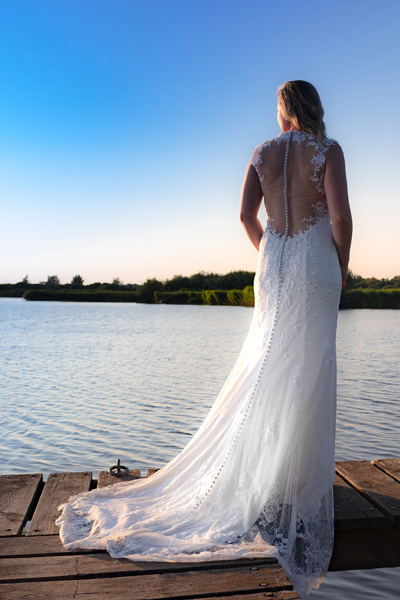 Bruid op steiger